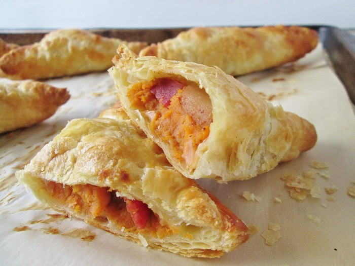 Hannah's Muffs: Sweet Potato Apple Bacon Turnovers