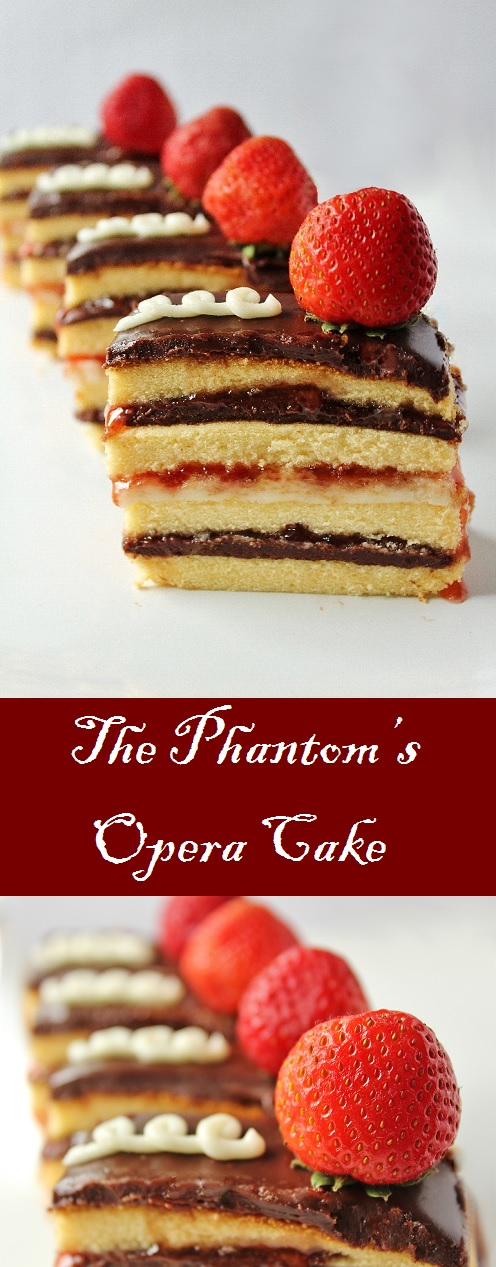 Chocolate Strawberry Opera Cake Recipe