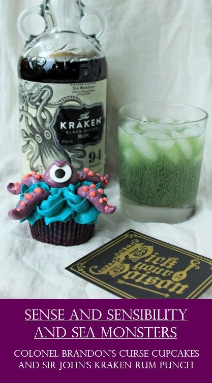 Here There Be Sea Monsters Colonel Brandon S Curse Cupcakes And Sir John S Kraken Rum Punch Alison S Wonderland Recipes